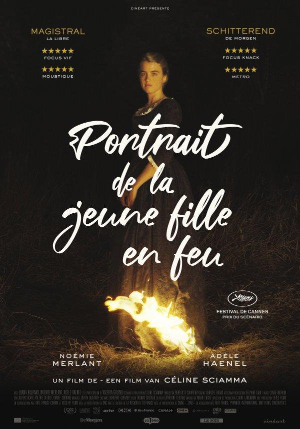 """Résultat de recherche d'images pour """"""""Portrait de la jeune fille en feu"""" affiche"""""""